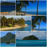 Tropical Travel Montage Stock Photos