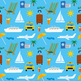 Tropical travel pattern Stock Photo