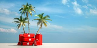 Tropical travel red royalty free stock photography