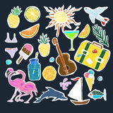 Tropical Travelling Objects Set. Stock Images
