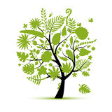Tropical tree concept, sketch for your design Royalty Free Stock Images