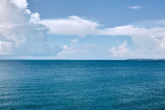 Tropical turquoise blue sea. View from above Royalty Free Stock Photo