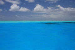 Tropical turquoise water in Bora Bora Stock Photography