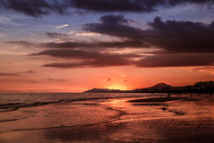 Tropical twilight. Sunset on the south-china sea, Hainan - tropical island in China Stock Photos