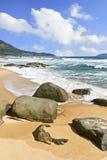 Tropical, untouched scenery in Sanya, Hainan Island, China Royalty Free Stock Photo
