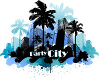 Tropical urban party city background Royalty Free Stock Images