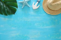 Free Tropical Vacation And Summer Travel Image With Sea Life Style Objects. Top View. Royalty Free Stock Image - 118244376