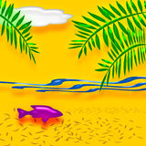 Tropical vacation art Royalty Free Stock Photo