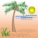 Tropical vacation art Stock Image