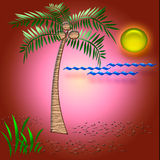 Tropical vacation art Stock Images