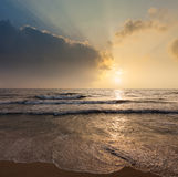 Tropical vacation background - ocean sea sunrise Stock Photo