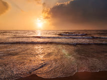 Tropical vacation background - ocean sea sunrise Stock Photos