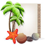 Tropical vacation background Stock Images