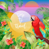 Tropical Vacation Banner. Exotic Island. Beach Vacation Stock Photo