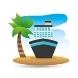 Tropical vacation beach boat cruise travel Stock Image
