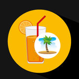 Tropical vacation beach cocktail bar Royalty Free Stock Photo