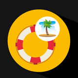 Tropical vacation beach life buoy icon Stock Images
