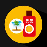 Tropical vacation beach solar blocker icon. Vector illustration eps 10 Royalty Free Stock Image