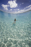 Tropical vacation - The Cook Islands. Tropical vacation in Aitutaki Lagoon in The Cook Islands Stock Photography
