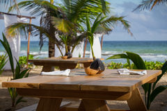 Tropical Vacation Dining Stock Images