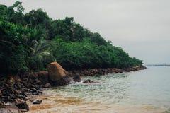 Tropical vacation holiday background - paradise idyllic beach. Sri Lanka Stock Images