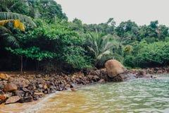Tropical vacation holiday background - paradise idyllic beach. Sri Lanka Stock Photos