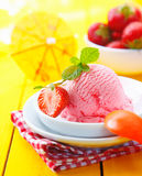 Tropical vacation icecream dessert Stock Photography