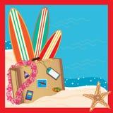 Tropical Vacation Invitation Stock Photo