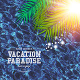 Tropical Vacation Paradise marketing poster Royalty Free Stock Photos
