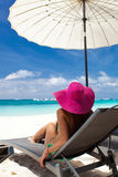 Tropical vacation, White beach Stock Image