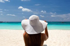 Tropical vacation, White beach Stock Photography