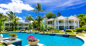 Tropical vacations. Luxury resort with gorgeous swimming pool. M Stock Photography
