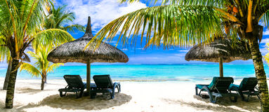 Tropical vacations - turquoise sea and white sandy beaches of Ma Royalty Free Stock Image