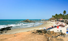 Tropical Vagator beach, Goa Royalty Free Stock Image