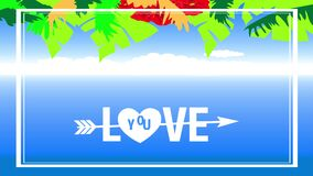 Tropical valentines day holiday text design