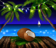 Tropical vector background Stock Image