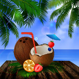 Tropical vector background Royalty Free Stock Image