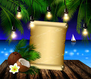 Tropical vector background Royalty Free Stock Photos