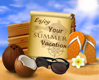 Tropical vector background Stock Photo