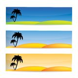 Tropical vector banner set Royalty Free Stock Photography