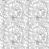 Tropical vector hand drawn illustration Stock Photos