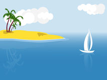 Tropical vector scene Stock Images
