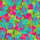 Tropical Vector Seamless Pattern Royalty Free Stock Photo