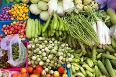 Tropical vegetables in market Stock Image
