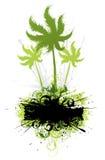 Tropical vegetation illustration Stock Photos