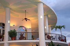 Tropical Veranda and Night Sky Royalty Free Stock Images