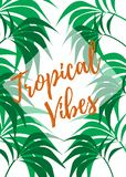 Tropical Vibes Palms royalty free illustration