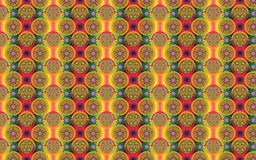 Tropical vibrant pattern in the colors of fruits Royalty Free Stock Image
