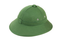 Tropical Vietnamese pith helmet Royalty Free Stock Photo