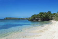 Tropical View. A gorgeous beach landscape in Guam Royalty Free Stock Images